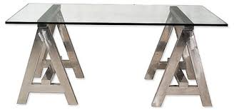 Glass And Chrome Desk Switched On Set Andrew Martin A Frame Chrome And Glass Desk
