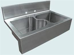 kitchen sink with backsplash copper sinks with integral back splashes by rachiele kitchen sink