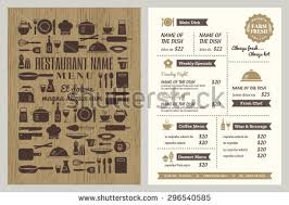retro restaurant menu design download free vector art stock