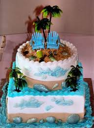 Cake Decorations Beach Theme - 11 best cake designs images on pinterest beach themed wedding