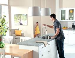 touch kitchen faucet delta moen 7385 one touchless canada bronze