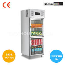 738mm two half glass door commercial reach in refrigerator tt bc365y