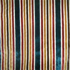Upholstery Fabric Striped Multi Velvet Stripe Tabriz Upholstery Fabric By Robert Allen 27667