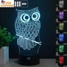 harry potter night light harry potter owl 3d acrylic led night light touch table desk l