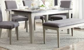 marble top dining room sets homelegance mendel dining table bluestone marble top grey 5280