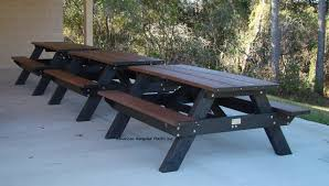 picnic table standard a frame picnic table american recycled plastic