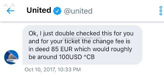 united airlines ticket change fee robbed by united airlines oct 28 2017 pissed consumer