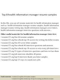 Management Resume Samples by Top 8 Health Information Manager Resume Samples 1 638 Jpg Cb U003d1432193916