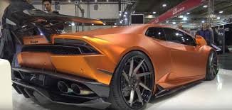 lamborghini custom body kits copper wrapped lamborghini huracan gets gaping carbon bodykit in