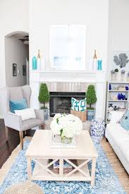 blue and white family room house beautiful pinterest summer home tour with fresh blue and white color scheme living