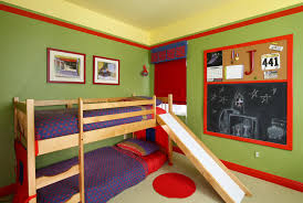 Childrens Bedroom Pillows Bedroom Bunk Bed With Space Underneath Painted Throw Pillows