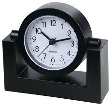 Modern Desk Clock Modern Desk Clock Timekeeper Timekeeper 4 Swivel Black Desktop