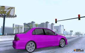 mitsubishi purple mitsubishi lancer evo 8 fq400 skins for gta san andreas
