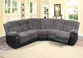 Sectional Recliner Sofas Microfiber Sectional Recliner Black Reclining Sofa With Cup Holders In