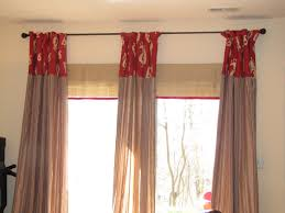 Fabric Drapes Interior Dark Brown Fabric Curtain Connected By Glass Sliding
