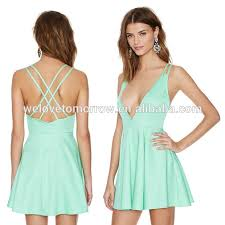 cotton and spandex dresses fashion designers zip closure at side