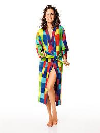 robe de chambre femme moderne peignoir confortable pour femme à imprimé carreaux helline