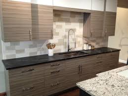 Black Granite Kitchen by Decorating White Wooden Kitchen Cabinet With Black Handle And