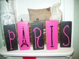Paris Themed Bathroom Accessories by Pink And Black Paris Letter Blocks Paris Decorparis Party