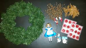 alice and wonderland christmas tabletop tree the enchanted manor