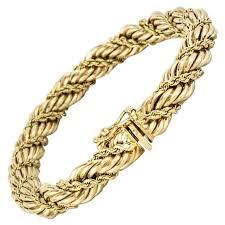 gold bracelet rope images Tiffany and co gold rope bracelet at 1stdibs jpg