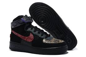 Nike Air Force One Comfort Air Force One Hi Comfort Prm Year Of Snake Shoes Black Purple Red