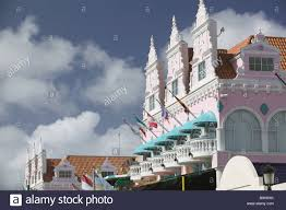 aruba oranjestad buildings architecture colonial style dutch