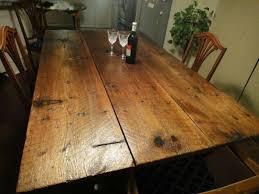 barn door dining table barn door dining table on reclaimed brushed nickel legs