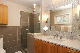 bathroom vanity backsplash ideas mosaic glass tile back splash vanity contemporary bathroom