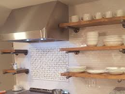 Floating Shelves Kitchen by Set Of 3 Industrial Floating Shelves Open Kitchen Shelves 12
