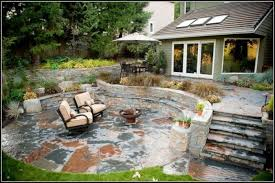 Backyard Patio Ideas Stone Backyard Patio Ideas With Fire Pit Patios Home Decorating