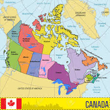 regions of canada map vector highly detailed political map of canada with regions and
