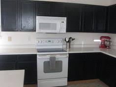 Black And White Appliance Reno Black Cabinets White Appliances Cottage I Was Thinking White