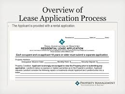 the tenant application process presented by abby lee senior