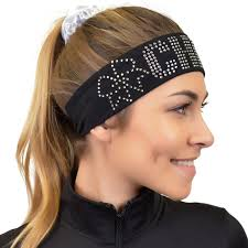 wide headband cheer rhinestone sparkly and shiny wide headband stretch is comfort