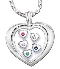 Mothers Necklace With Initials 107 Best Grandmother Necklace With Birthstones Images On Pinterest