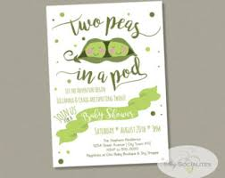two peas in a pod baby shower pea pod invitation etsy