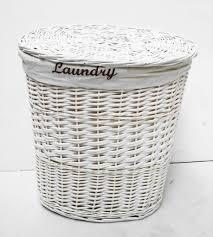 white wicker laundry hamper with fabric u2014 sierra laundry
