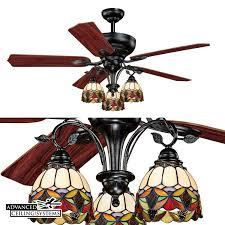 Stained Glass Ceiling Fan Light Shades These Stained Class Ceiling Fans Will Add Color And Style To Any
