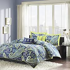 Teen Comforter Set Full Queen by Amazon Com Modern Teen Girls Comforter Bedding Set With Blue And