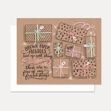brown christmas cards val card kraft paper christmas card brown