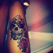 skull leg tattoos 3d hd model design idea for and