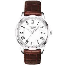 tissot bracelet leather images Tissot dream 38mm steel white roman dial leather strap watch jpg