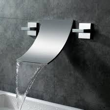 Bathroom Sink Wall Faucets by Sumerain Double Handle Wall Mount Waterfall Bathroom Sink Faucet