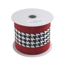 wired ribbon hounds tooth crimson christmas wired ribbon black 2 1 2 inch