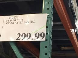 solar attic fan costco costco 892670 us sunlight solar attic fan 20w tag costcochaser