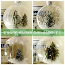 anthropologie inspired snow globe ornaments featuring mel from