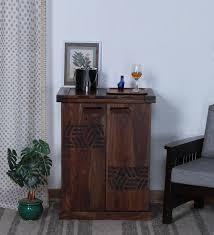 Large Bar Cabinet Buy Mayville Solid Wood Large Bar Cabinet In Provincial Teak