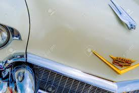 1950 s cadillac ornament and emblem stock photo picture and