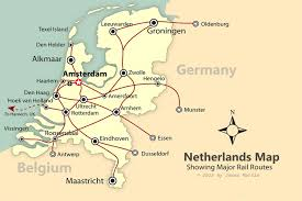 Map Of Holland Rail Map Of Holland 20670 Aouo Us